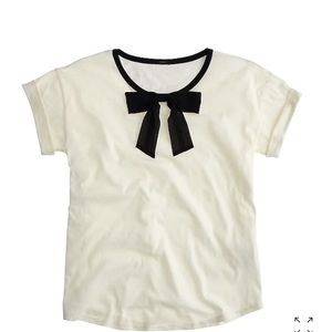 JCREW roll sleeve tee with bow